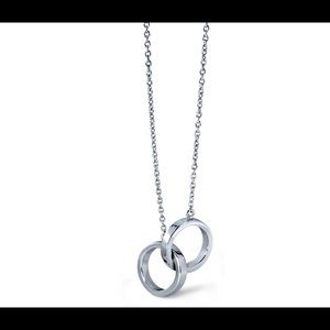 Jewelry - Blue Nile infinity rings necklace sterling silver